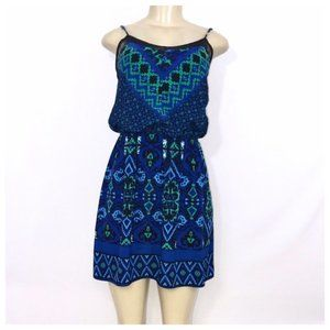Express Blue and Green Dress Small